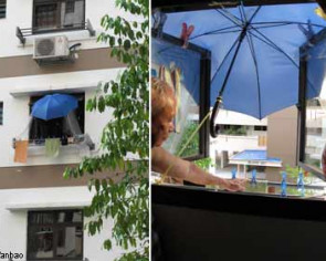 Problem with neighbours? Use umbrella