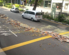 Not your job? Internet divided over photos of SCDF cleaning up spilled eggs along Orchard Road