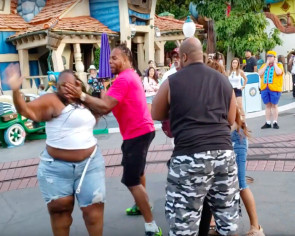 Violent fight breaks out at Disneyland Toontown in front of little children
