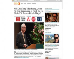 Website fabricated comments attributed to ESM Goh Chok Tong to solicit bitcoin investments: MAS