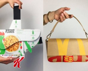 Couple crafts iconic luxury handbags from common food and product packaging
