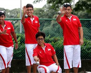 Team Singapore's oldest athlete to compete alongside former students