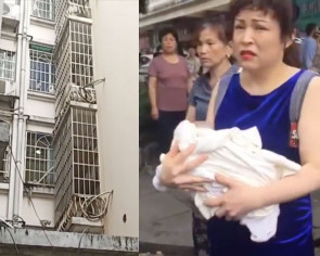 Baby in China gets tossed out of 3-storey window by mother, minutes after being born