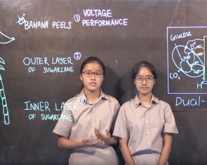 Singaporean Google Science Fair student finalists are converting energy from banana peels and sugarcane pulp