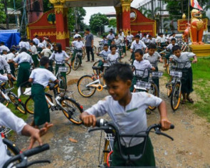 Ride on time: Recycled bikes from Singapore and Malaysia get Myanmar kids to school
