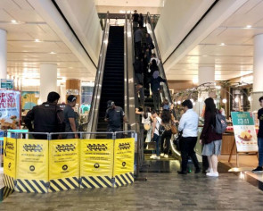 SCDF uses rescue tools to release child's foot stuck in escalator at Jewel