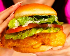 $2.99 for Burger+ Fried Chicken Burger