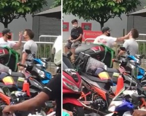 Man arrested after repeatedly slapping guy and cussing in parking lot dispute outside Nex