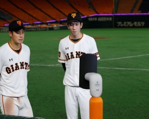 Japanese baseball fan enters empty stadium via robot