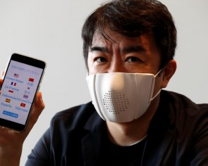 Japanese startup creates 'connected' face mask for coronavirus new normal