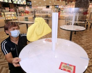 Coronavirus: Table shields could be used when dining at eateries is allowed