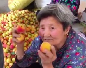 80-year-old woman in China becomes internet celebrity thanks to apricots