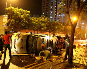 Little India Riot: 31 months' jail, 3 strokes for Indian national