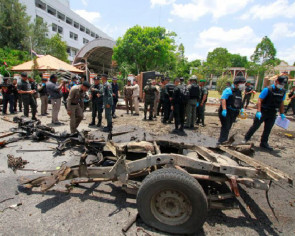 2 bombs explode outside Thai government office in Yala, wounding 18