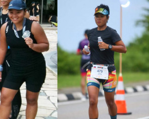 Her 17kg weight loss inspires foreign domestic workers to pick up sport