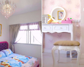 Couple spends less than $20,000 to renovate their princess-themed HDB flat