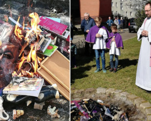 Catholic priests burn Harry Potter books in Poland