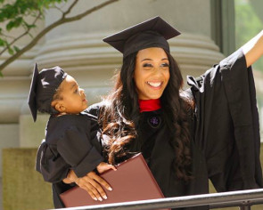 With baby in tow, 24-year-old single mom graduates from Harvard law school
