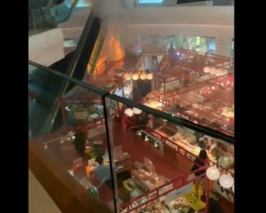 One taken to hospital after fire breaks out at Tampines Mall's atrium fair