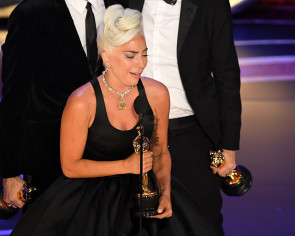 Lady Gaga sobs after winning Oscar for best song