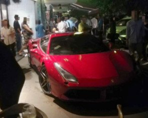 Woman injured as Ferrari crashes into bar in KL