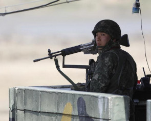 North and South Korea exchange gunfire across border at guard post