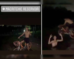 PUB makes police report over youths riding bicycle into MacRitchie Reservoir, swimming in water