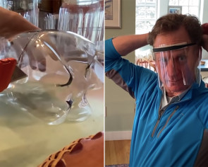 Here's how to make a DIY face shield with a 2-litre plastic bottle in 2 minutes