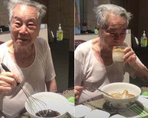 Anti-McSpicy grandpa is back and taking on dalgona coffee in another viral clip