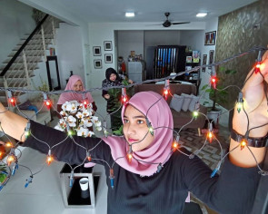 Different Raya mood for Malaysian family