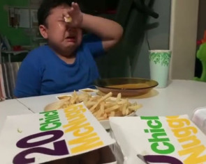 Boy with mild autism getting surprised with McDonald's will make your day