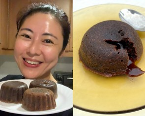 I try Cynthia Koh's easy recipe for air fryer lava cake and I'll never pay for one again