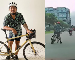 'It's funny how people misinterpreted me being the father': Cyclist who saved toddler from traffic in viral video