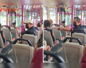 No PDA allowed: Man rages at couple for hugging and holding hands on bus, threatens to call cops
