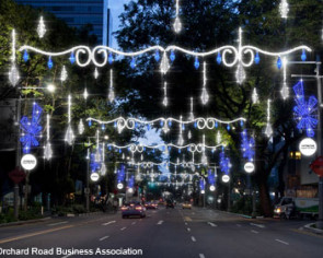 Orchard Road dresses up for Christmas