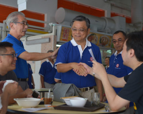 New party holds 1st walkabout in PAP stronghold