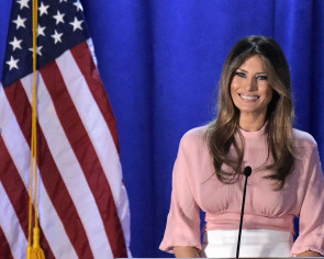 Melania Trump makes solo pitch for 'fantastic' husband
