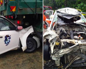 2 children orphaned as parents killed in car-lorry crash in Malaysia