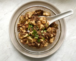 I try making mapo tofu with Impossible beef and no one can believe it isn't real meat