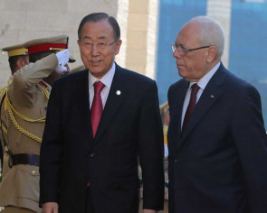 UN chief Ban visits war-scarred Gaza Strip