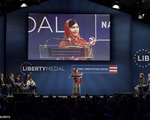Nobel prize winner Malala Yousafzai renews call for education for all