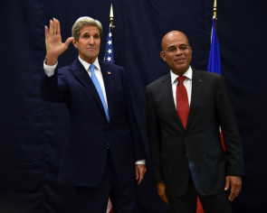 Kerry urges Haiti to get behind upcoming vote