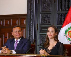 UN special envoy Angelina Jolie voices support for Venezuelan refugees