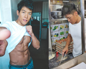 This young hawker is so good-looking one customer's boyfriend forbids her from eating at his stall