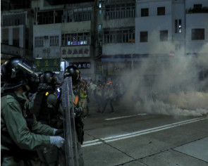 Tear gas, petrol bombs and vandalism as chaos returns to Yuen Long