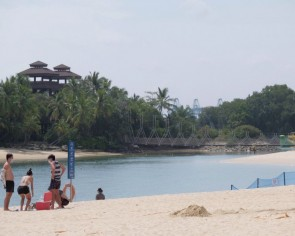 Sparse crowds at Sentosa beaches on first day with online booking requirement