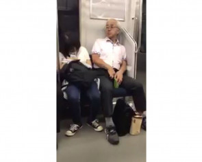 Japan man caught pulling and sprinkling pubic hair on sleeping woman on train