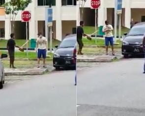 Man filmed slashing himself in Choa Chu Kang carpark arrested, taken to hospital