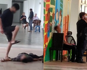 Man, 45, arrested after raining blows on motionless victim at Sengkang void deck