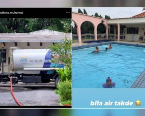 Public outcry over swimming photos by Selangor Menteri Besar's wife amid water supply cuts